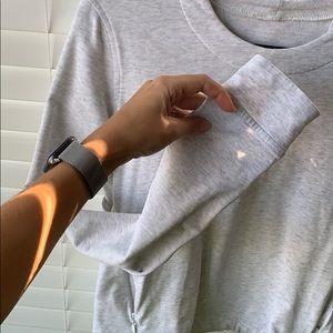 lululemon athletica Tops - Lululemon &Go Endeavor Sweatshirt Light Gray